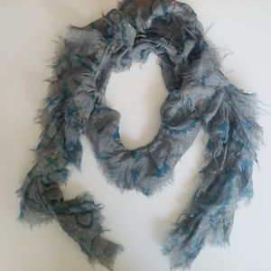 Grey & Turquoise Scarf
